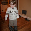 Trying on dad's shoes