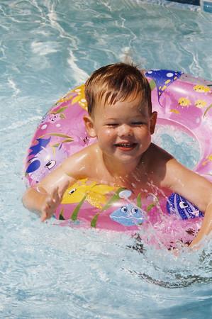 Swimming in Inner Tube