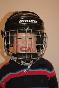 Wearing Hockey Helmet (2)