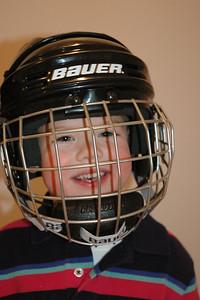 Wearing Hockey Helmet (1)