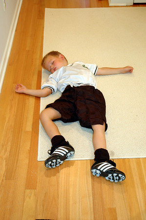 Asleep After Soccer