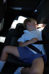 Sleeping in Backseat