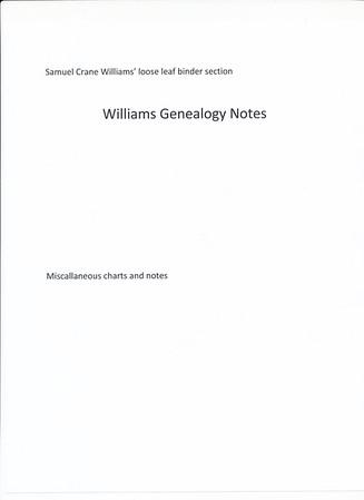 Sam Binder - Williams Genealogy notes