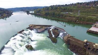 Willamette Falls in Oregon City, South of Portland