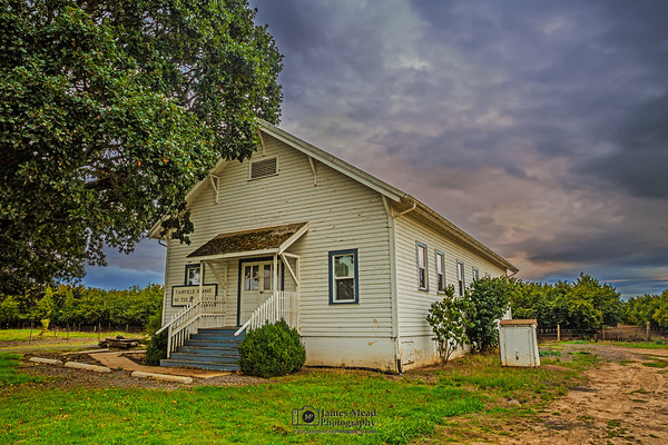 "'Memories,"" Sunset over a Historic Grange, Oregon"