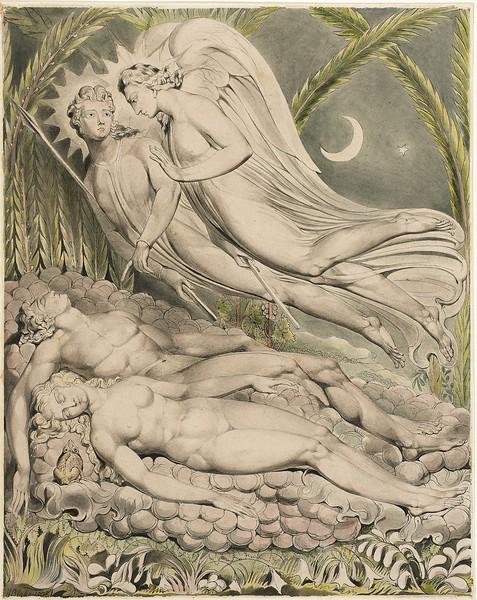 Adam and Eve Asleep