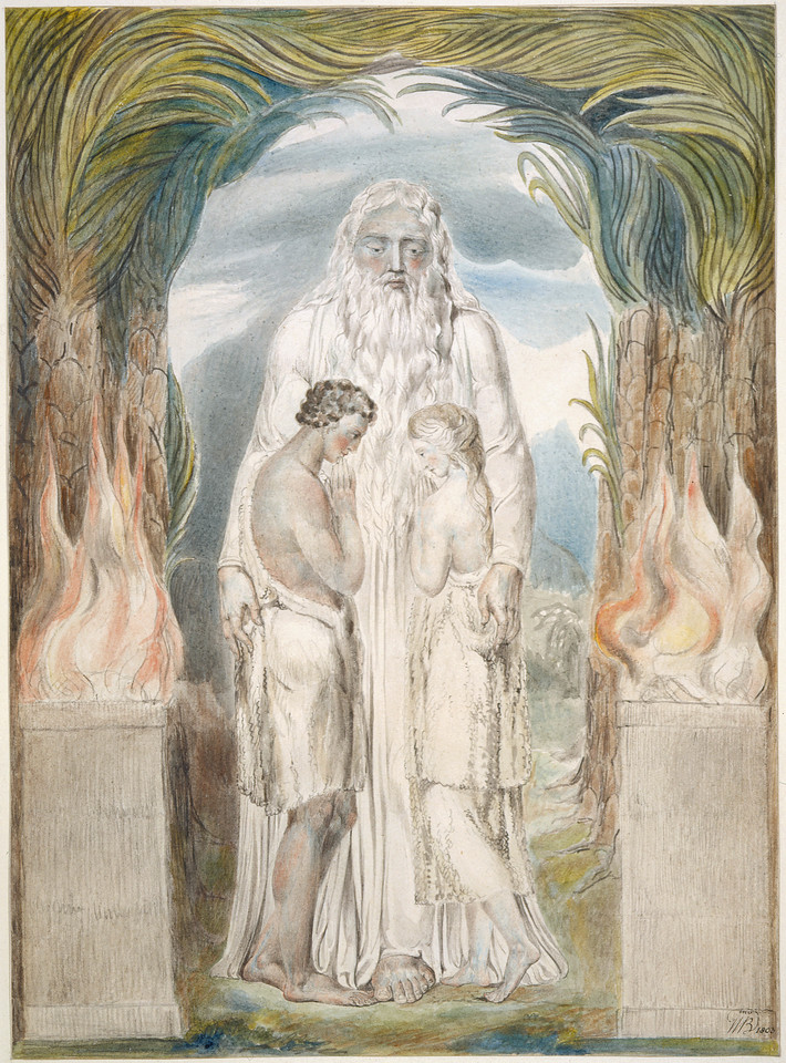 The Angel of the Divine Presence Clothing Adam and Eve with Coats of Skins