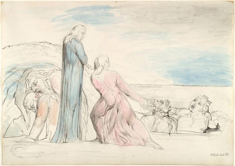 Dante Tugging at Bocca's Hair