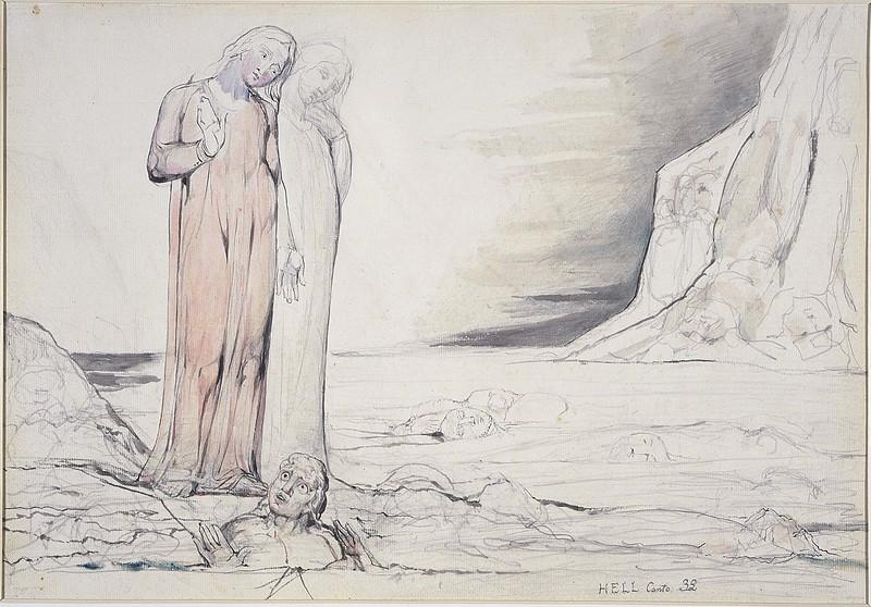 Dante Striking Against Bocca Degli Abati