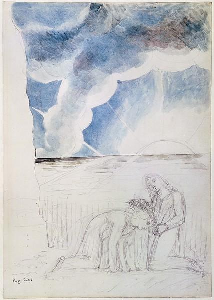 Virgil Girding Dante's Brow with a Rush