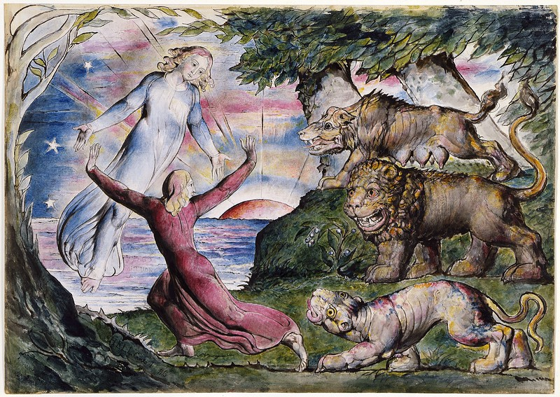 Dante Running from the Three Beasts