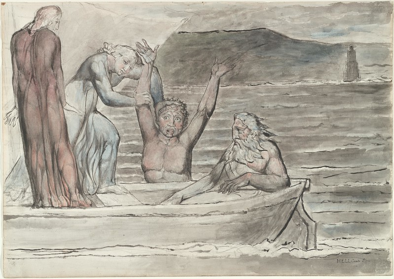 Virgil Repelling Filippo Argenti from the Boat of Phlegyas