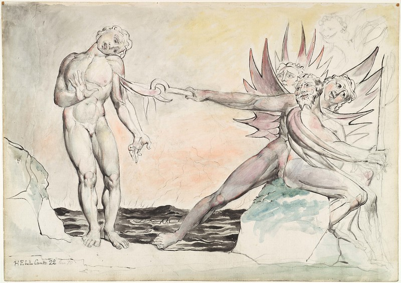 Ciampolo the Barrator Tormented by the Devils