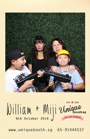 William + Miji Photobooth Album