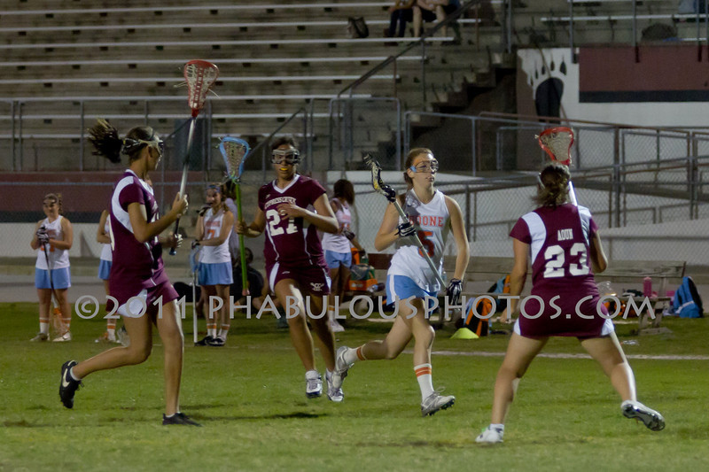 Boone High School @ Cypress Creek Girls Varsity Lacrosse 2011 - DCEIMG-2128