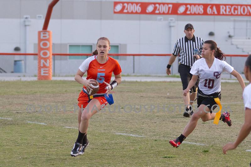 Cypress Creek @ Boone Varsity Girls Flag Football 2011 DCEIMG-2842