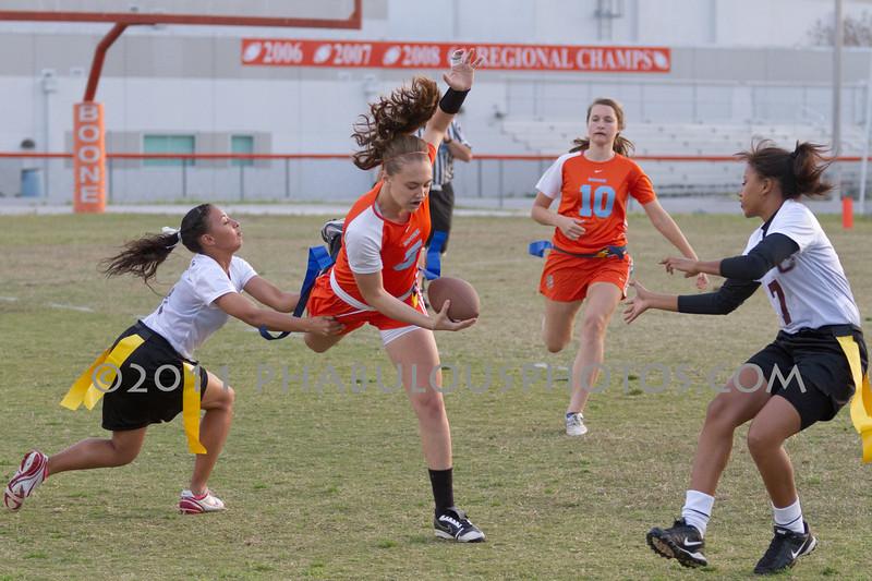 Cypress Creek @ Boone Varsity Girls Flag Football 2011 DCEIMG-2845