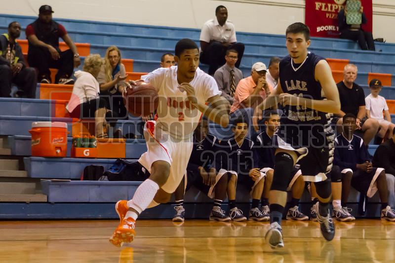 Lake Howell Silver Hawks @ Boone Braves Boys Varsity Basketball - 2014-DCEIMG-4025