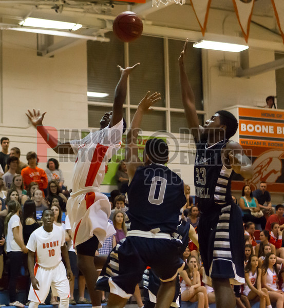Lake Howell Silver Hawks @ Boone Braves Boys Varsity Basketball - 2014-DCEIMG-4187