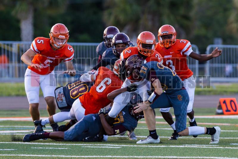 Saint Cloud Bulldogs @ Boone Braves Varisty Football -  2018- DCEIMG-1193