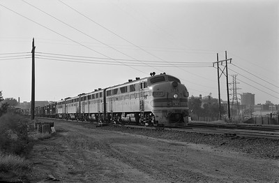 2013.010.CBQ.D.0127A--bill kuba 6x9 neg--CB&Q--EMD diesel locomotive 127A on eastbound freight train--Omaha NE--1963 1012
