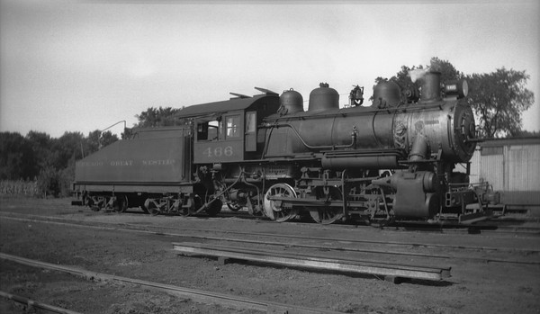2013.010.CGW.S.0466--bill kuba 116 neg--CGW--steam locomotive 0-6-0 466--location unknown--no date