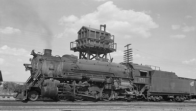 2013.010.FWD.S.0451--bill kuba 116 neg--FW&D--steam locomotive 2-8-2 451--Wichita Falls TX--1956 0826