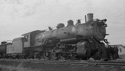 2013.010.FWD.S.0407--bill kuba 116 neg--FW&D--steam locomotive 2-8-2 407--Holliday TX--1956 0216