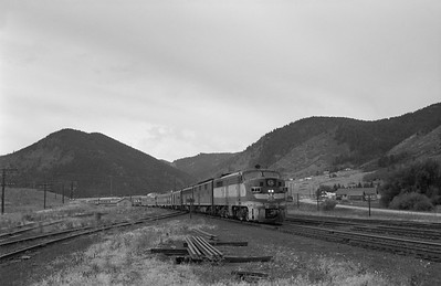 2013.010.MP.D.0071--bill kuba 6x9 neg--MP--ALCO diesel locomotive 71 on D&RGW passenger train 4--Palmer Lake CO--1962 0929
