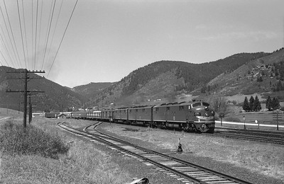 2013.010.MP.D.0026--bill kuba 6x9 neg--MP--EMD diesel locomotive 26 on D&RGW passenger train 4--Palmer Lake CO--1963 0620