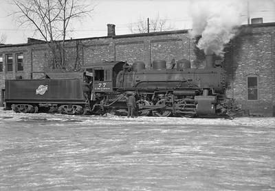 2013.010.CMO.S.0077--bill kuba 6x9 neg--CStPM&O--steam locomotive 0-6-0 M-3 77--St Paul MN--no date