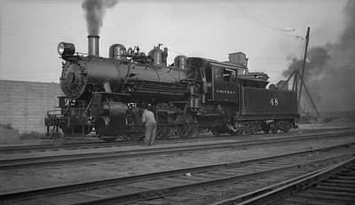 2013.010.CMO.S.0048--bill kuba 116 neg--CStPM&O--steam locomotive 0-6-0 M-2 48 scene--Omaha NE--no date