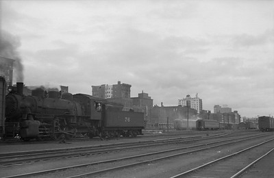 2013.010.CMO.S.0076--bill kuba 6x9 neg--CStPM&O--steam locomotive 0-6-0 M-3 70 yard scene--Duluth MN--no date
