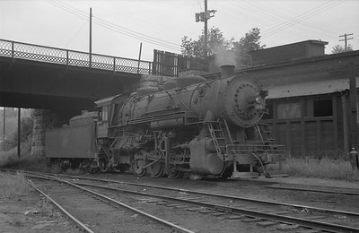 2013.010.CMO.S.0063--bill kuba 6x9 neg--CStPM&O--steam locomotive 0-8-0 M-5 63--St Paul MN--1955 0818