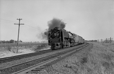 2013.010.UP.AS.0835A--bill kuba 6x9 neg--UP--steam locomotive 4-8-4 835 on freight train action--Grand Island NE--1958 1011