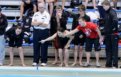 Team support for Kara's 500 freestyle