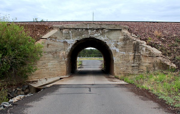 Railroad underpass on Country Club Road (2018)