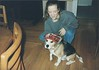 1995 Stephani Williams & beagle in hat