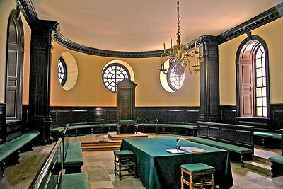The House of Burgesses Chamber in Williamsburg, VA