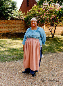 Woman in Pink Apron