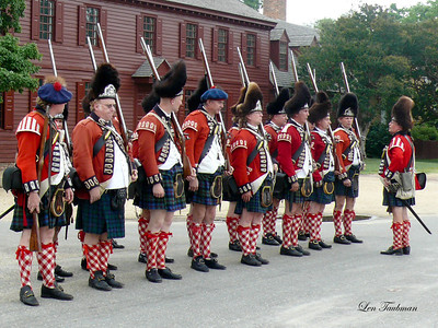 Redcoats in Formation