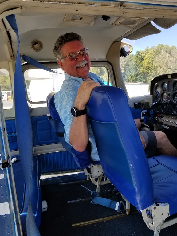 . Ukiah Aviation instructor John Eisenzopf gave ride after ride in a Cessna 172 during Willits Airport Day & Lions Club Fly-In Saturday, Sept. 23.  AURA WHITTAKER FOR THE WILLITS NEWS