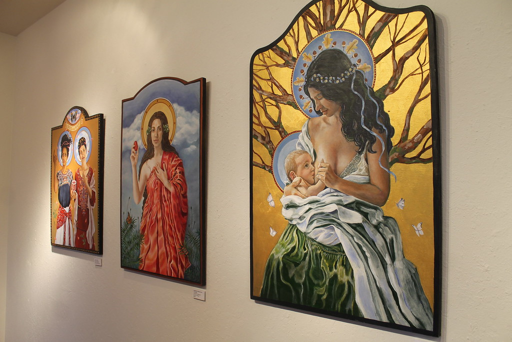 . Artwork on display at the gallery Friday.