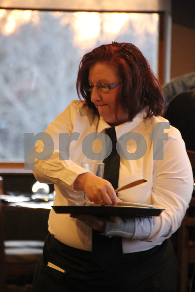 Friday, February 19, 2016, Willow Ridge in Fort Dodge, held a Culinary Dinner. Pictured is: Tina Behrends waiting on customers at the event.