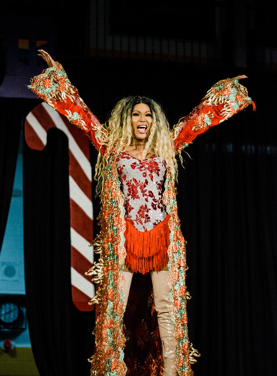 . Destiny performs during the \'Willy Wonka and Her Drag Factory\' drag show at Fitchburg State University on Thursday, March 30, 2017. SENTINEL & ENTERPRISE / Ashley Green
