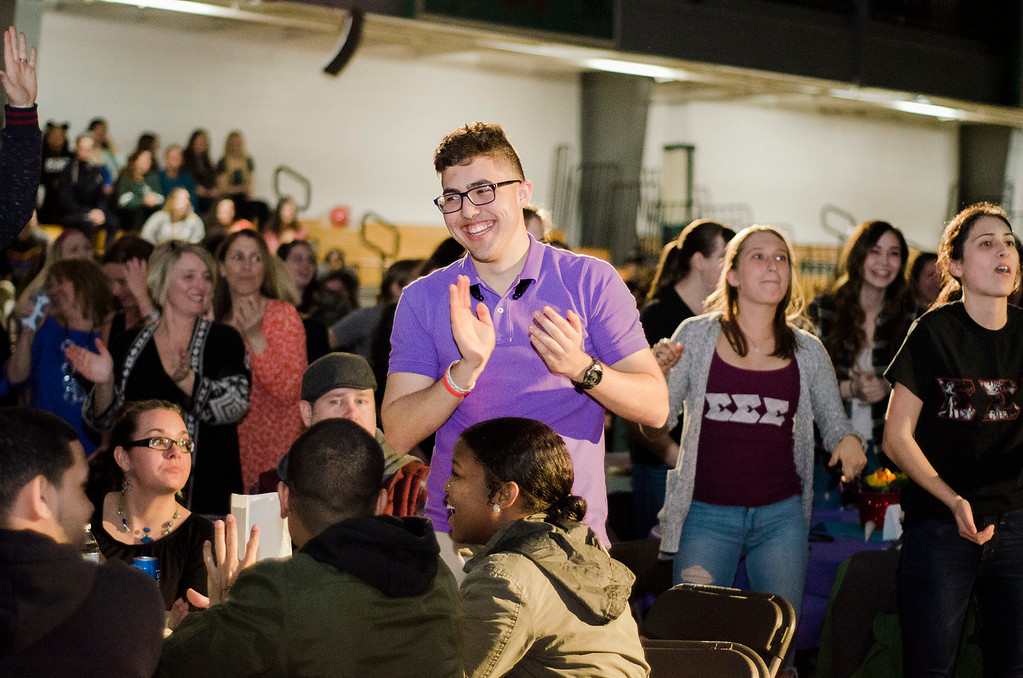 . FSU students enjoy the \'Willy Wonka and Her Drag Factory\' drag show at Fitchburg State University on Thursday, March 30, 2017. SENTINEL & ENTERPRISE / Ashley Green