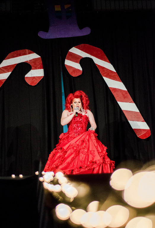. Vita Summers performs during the \'Willy Wonka and Her Drag Factory\' drag show at Fitchburg State University on Thursday, March 30, 2017. SENTINEL & ENTERPRISE / Ashley Green