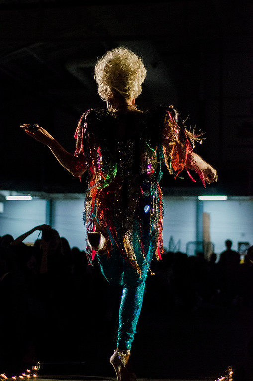 . Raquel performs during the 12th annual \'Willy Wonka and Her Drag Factory\' drag show at Fitchburg State University on Thursday, March 30, 2017. SENTINEL & ENTERPRISE / Ashley Green