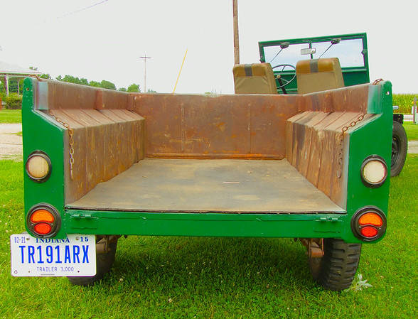 Aug 2014: got some work done on the tail end including new tail lights, trailer wiring & tag bracket. We are now road legal!