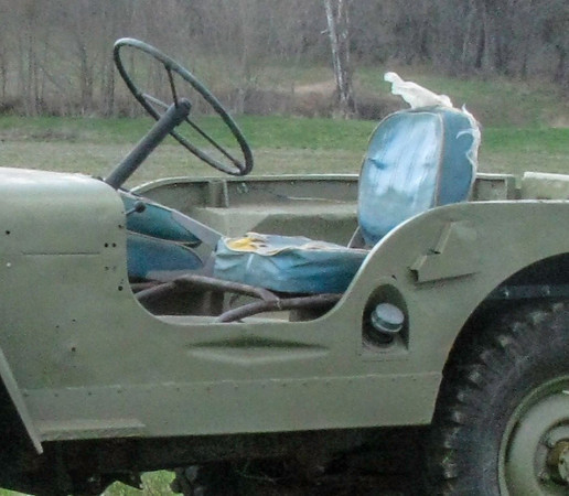 The shovel indentation under the drivers seat is not indicative of a 1949 Willys. Upon checking VIN numbers against years of production, and other significant findings it was determined that this Jeep is actually a 1945.